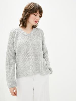 Пуловер серый | 5706607