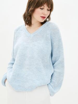 Пуловер голубой | 5706609