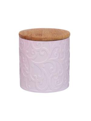 Банка для сипких з бамбуковою кришкою (10х10х11 см)   5328795