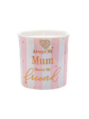 Свічник «Мама - мій найкращий друг» зі свічкою (320 мл) | 5425088