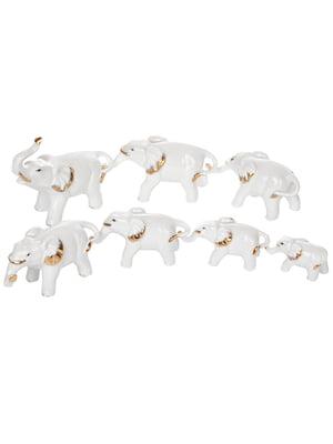 Набір фігурок декоративних «Слони» (7 предметів)   5705928
