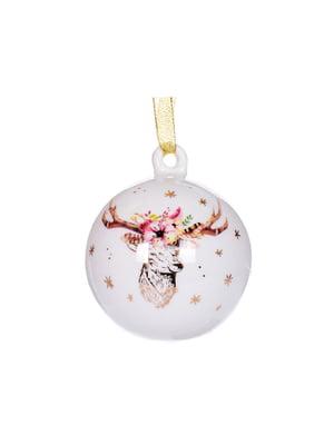 Елочное украшение «Рождественский олень» (9 см) | 5706262