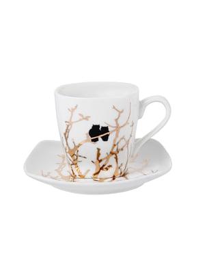 Набір кавовий «Золоті совушки» ((2 предмета)   5706307