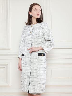 Пальто бело-черное | 5702918