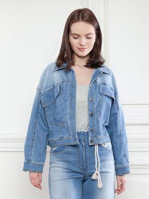Куртка джинсова синя | 5702953