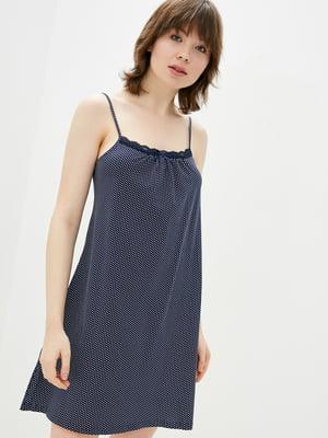 Рубашка ночная синяя в крапинку   5707344