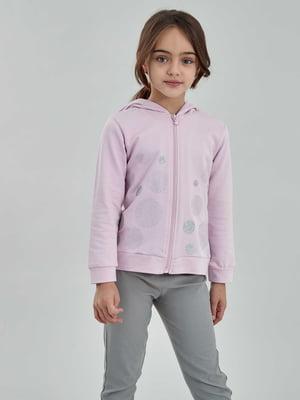 Толстовка розовая с рисунком   5686377