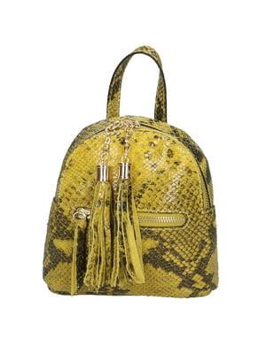 Рюкзак желтый с анималистическим узором   5704352