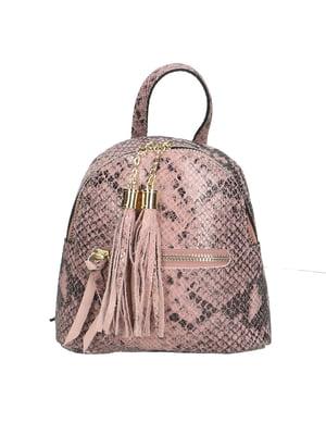 Рюкзак розового цвета с анималистическим узором   5704358