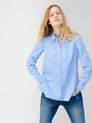 Рубашка голубого цвета в полоску | 5686075