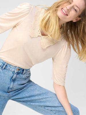 Блуза пудрового кольору | 5707780