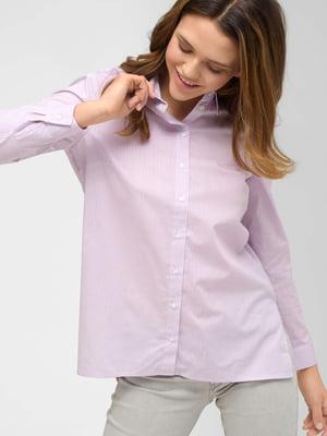 Рубашка сиреневого цвета в полоску | 5707842