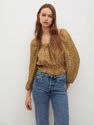 Блуза с цветочным принтом | 5708028