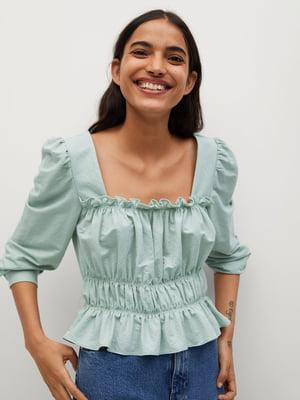 Блуза ментолового цвета | 5708039