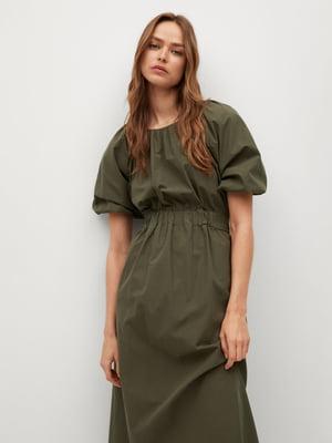 Сукня кольору хакі | 5708069