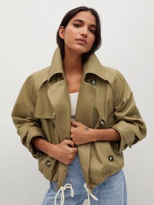 Куртка коричневого кольору | 5708085