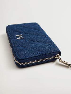 Гаманець синій з візерунком-ромбом | 5708151
