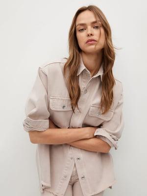 Рубашка цвета пудры | 5708187