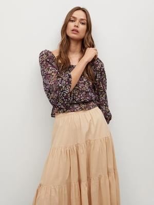 Блуза с цветочным принтом | 5708240