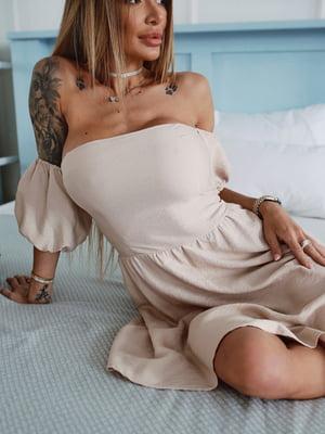 Сукня бежевого кольору   5708545