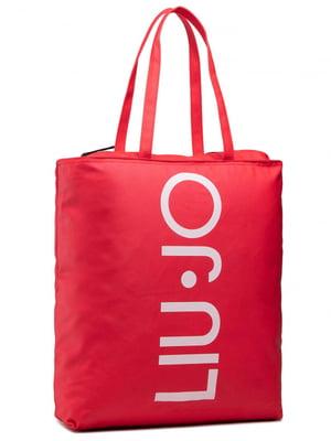 Сумка красного цвета с логотипом   5622133