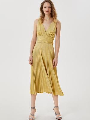 Платье золотистого цвета | 5708597