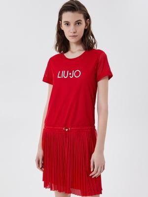 Сукня червоного кольору з логотипом | 5708601