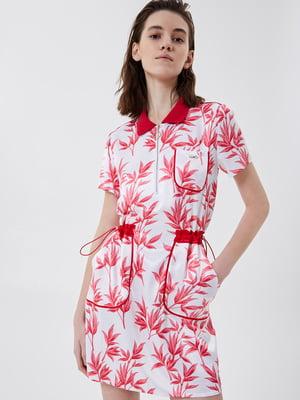 Сукня біла з квітковим принтом | 5708602