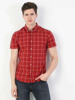 Сорочка червоного кольору в клітинку | 5709268