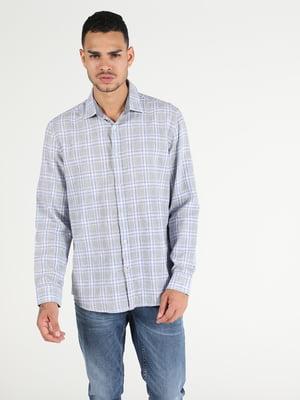 Рубашка серая в клетку   5709497