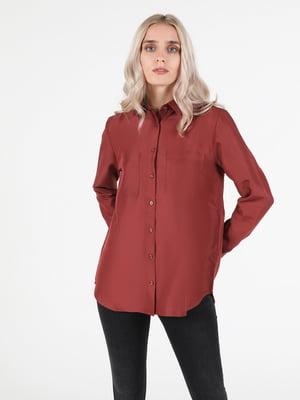 Рубашка терракотового цвета | 5709637
