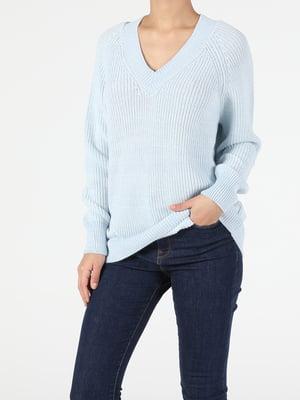 Пуловер голубого цвета   5709785