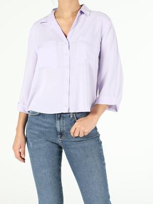 Рубашка сиреневого цвета | 5709820