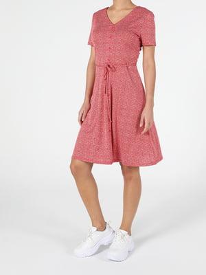 Платье цвета корицы с принтом   5709946