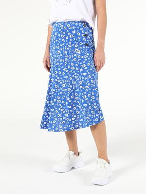 Юбка синяя с цветочным принтом   5709963