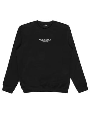 Свитшот черный с принтом | 5709999
