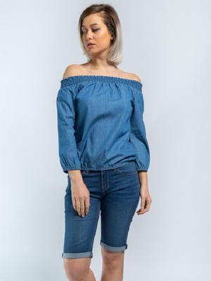 Блуза синяя | 5686792