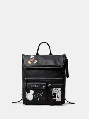 Рюкзак черный с рисунком | 5710291