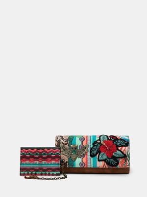 Кошелек с цветочным рисунком и анималистическим узором | 5710311