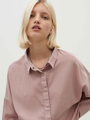 Рубашка цвета пудры | 5710438