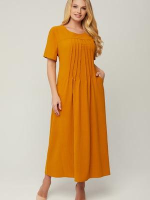 Платье горчичного цвета | 5711119