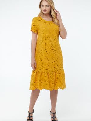 Платье горчичного цвета | 5711135
