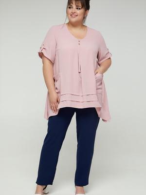 Блуза фрезового цвета | 5711155