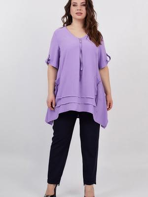 Блуза сиреневая | 5711196