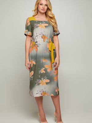 Платье с цветочным принтом | 5711228