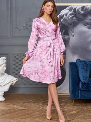 Сукня рожева у принт   5711704