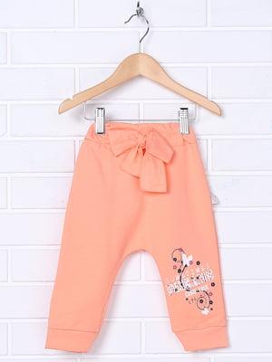 Повзунки морквяного кольору з принтом | 5281454