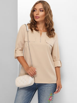 Блуза бежевая | 5711732