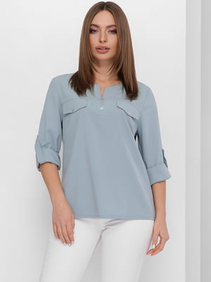 Блуза голубая | 5711736