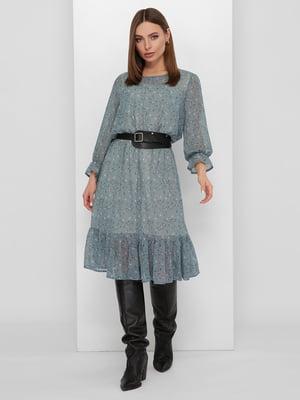 Сукня блакитного кольору з малюнком | 5711748